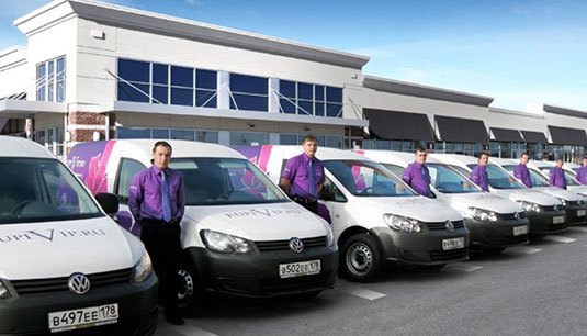 F4E Russian partner with over 100 delivery vans